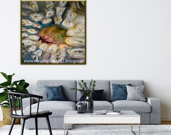 ON the HALF SHELL Giclee Abstact Art Print  Contemporary Appetizer Decor for Office or Any Space