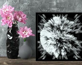NIGHT MOON Giclée Abstract Contemporary Art Print Wallart Home Decor