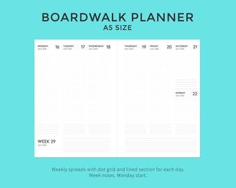 Digital · 2018/19 Boardwalk Planner · A5 Size
