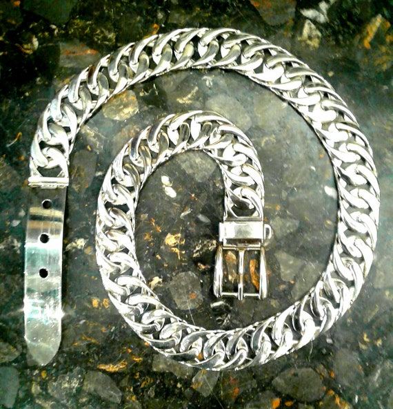 GUCCI Stainless Steel Belt Circa 1970s - image 1