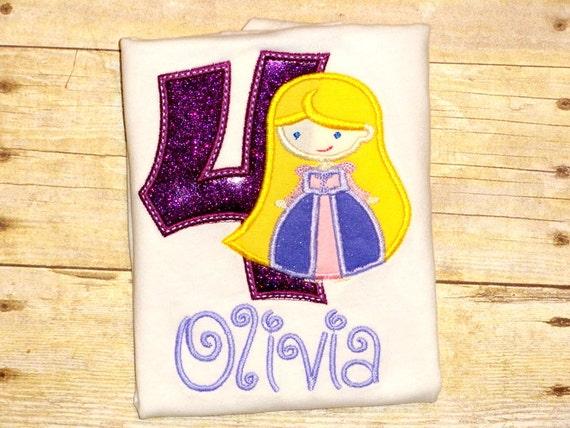 Rapunzel Birthday Shirt For Girls Disney Princess