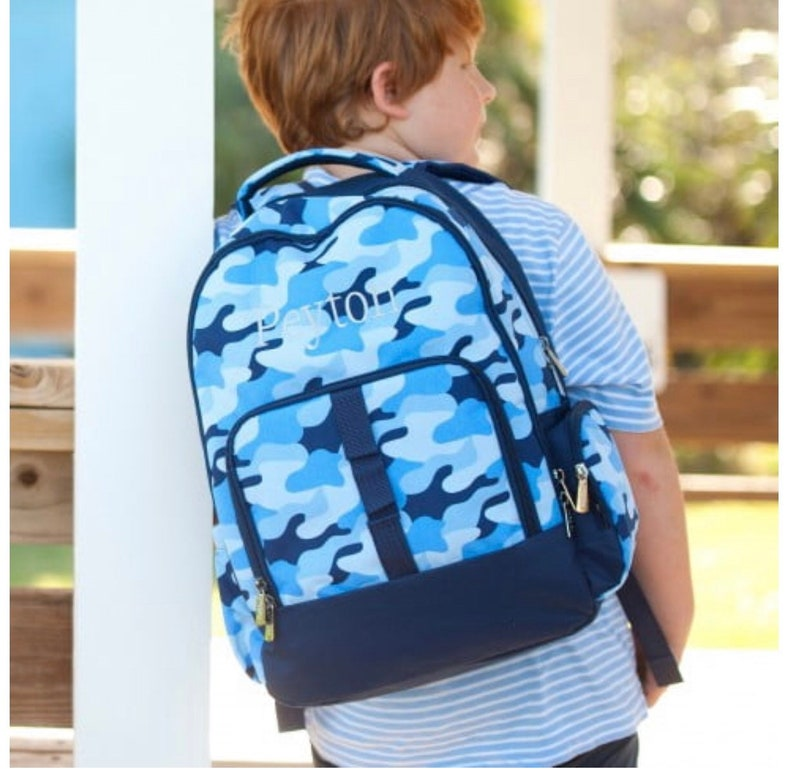 Cool Camo Monogrammed Backpack and Lunchbox Combo