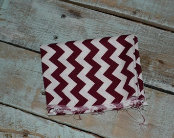 Riley Blake Maroon Chevron