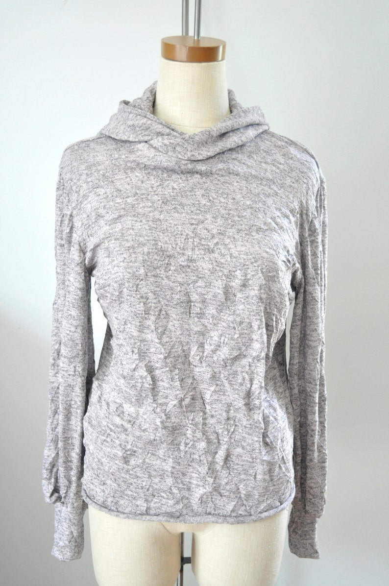 Light Rose Pink Heathered Pullover with Hood