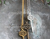 Knot key necklace - Silver, gold, or bronze