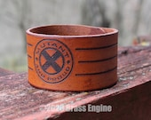 "Mutant and Proud 1.5"" Leather Cuff - Multiple Sizes Adjustable Snap - Color Choice - X-Men Marvel Xavier School"