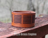 "Elements 1.5"" Leather Cuff - Multiple Sizes Adjustable Snap - Color Choice - Fifth Element Leeloo Dallas"