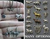 Forest, Safari Animal Jewelry- Earrings, necklaces; Many different options- Wolf, fox, lion, elephant, zebra, tiger, leopard