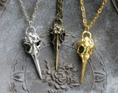 Bird Skull Necklace- 3 color options