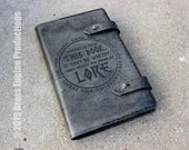 Power of Lore Notebook 'Moleskine' Notebook Cover 8.25x5.25 - Hand stitched - Laser Etched - Smoke Black Thor Mjolnir