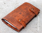 Durin's Door 'Moleskine' Notebook  Cover 8.25x5.25 - Hand stitched - Laser Etched - Briar Brown Lord of the Rings LOTR Fellowship