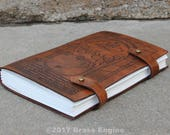 Durin's Door Sketch Journal 6x9 - 120 pages - Hand Bound - Laser Etched - Briar Brown - Moria LOTR