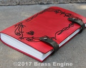 Red Book of Westmarch Sketch Journal 6x9 - 120 pages - Hand Bound - Laser Etched - Scarlet - Bilbo's Diary LOTR