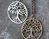 Tree of life necklace, choice of silver or bronze