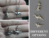 Dinosaurs Jewelry- Earrings, necklaces; 3 different options