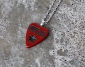 SALE- Ouija Planchette - Pendant or Necklace - Red