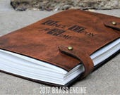 Once Upon a Time Sketch Journal 6x9 - 120 pages - Hand Bound - Laser Etched - Briar Brown - Henry's Book