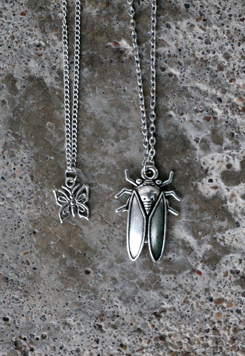 Handmade jewelry Silver Grasshopper Necklace Sterling Silver Art Nouveau Grasshopper Pendant Vintage Style Jewelry Insect Necklace Silver