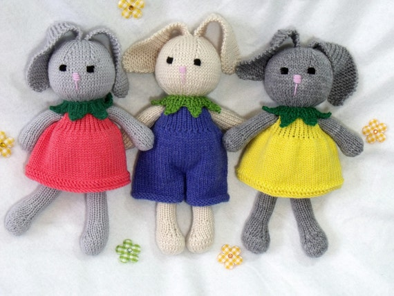 Spielzeug Puppe Hase Strickmuster. Cuties. Blume-Hase. | Etsy