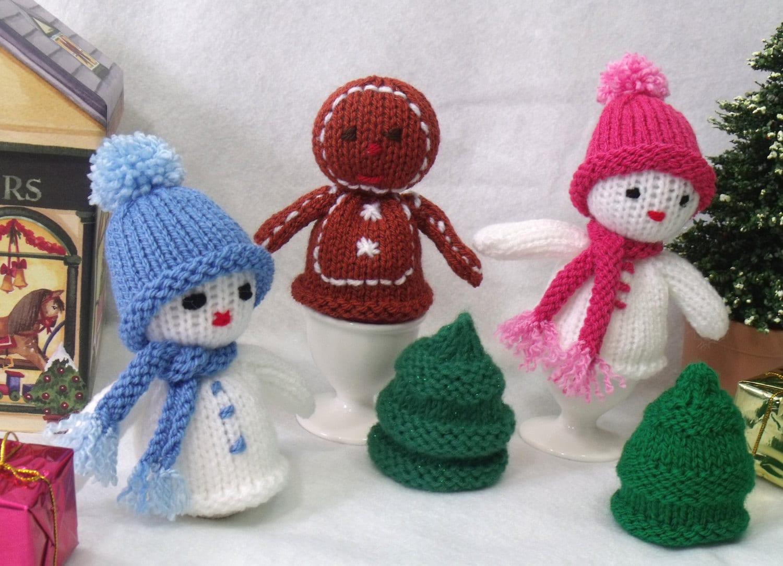 Christmas Egg Cosy Knitting Pattern Christmas Decoration Etsy
