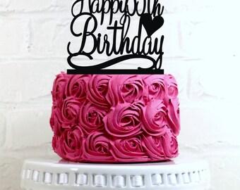 Birthday Cake Topper Happy 35th Decoration