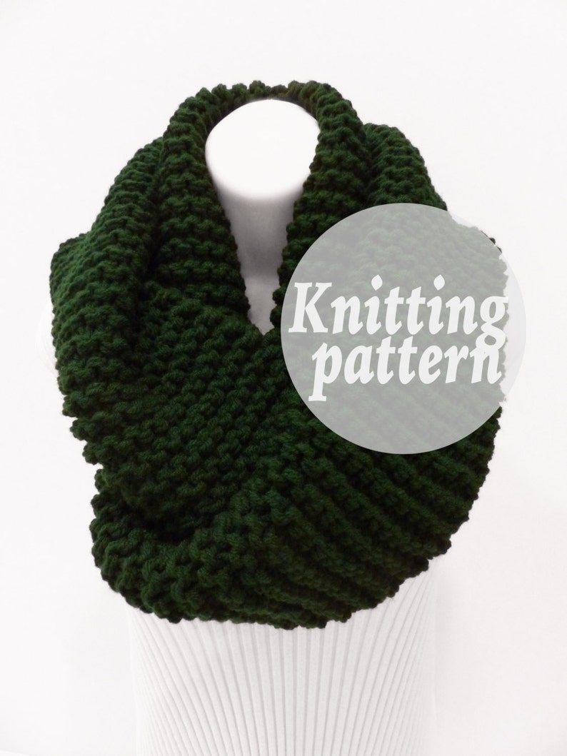 Knit Pattern Instant Download Knitting Pattern Infinity Etsy