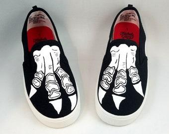 skeleton feet shoes etsy