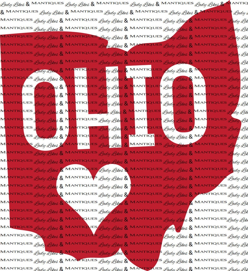 Ohio State Svg State Svg Files United States Svg State Clip Etsy
