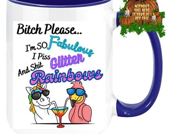 Custom Color Bitch Please Mug Unicorn Mug Flamingo Cup Gift for Him Gift for Her Gay Lesbian Gifts