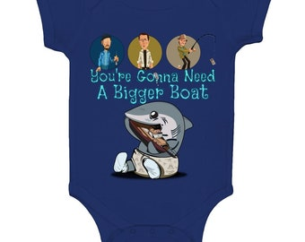 Classic Film Jaws Inspired Movie Quote Gonna Need A Bigger Boat Onesie Baby Body Suit Toddler