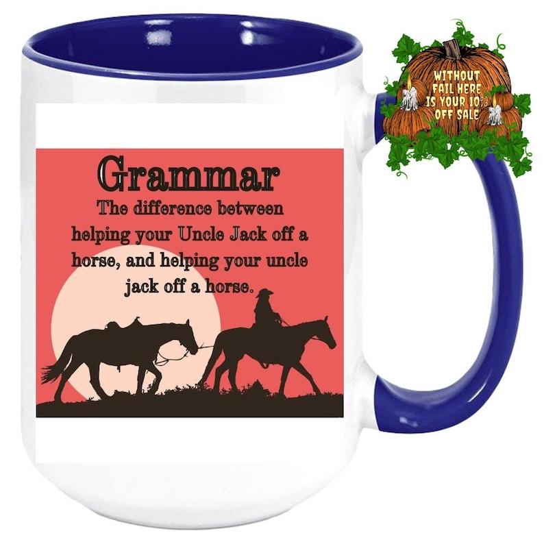 Custom Color New Teacher Gifts English Teacher Coffee Mug Cup image 0