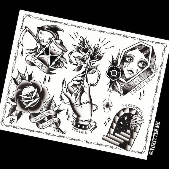 Impression X Flash Pouces 14 11 Halloween Tattoo FuK3Tlc1J