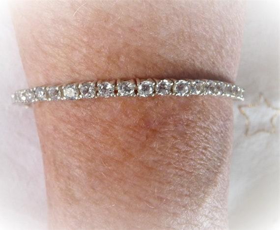 Sterling Tennis Bracelet, CZ Narrow Bracelet, Dres