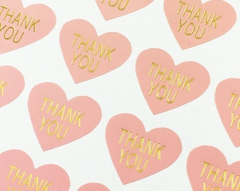 500* Handmade Love Sticker Thank You Card Label For Wedding Birthday Parties New
