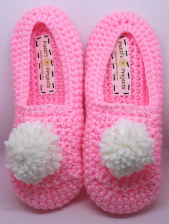 Pom Pom Slippers Adult Sizes