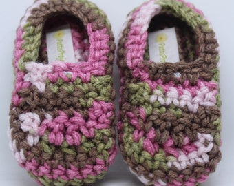 Infant Pink Camouflage slippers