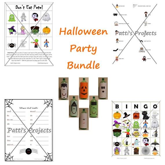 Halloween Party Games Bundle - Digital Download