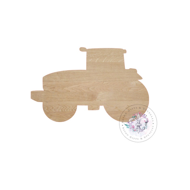 TRACTOR Wooden Cutout Unfinished - Wooden Blanks, Wooden Shapes, Wooden  Wreath Shapes, Wooden Door Hangers, Shape Blanks
