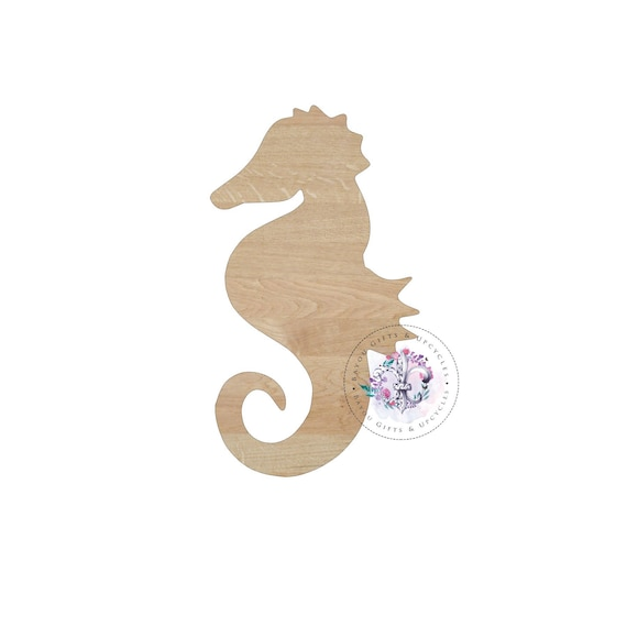 8167194927f86 SEA HORSE Wooden Cutout Unfinished Wooden Blanks Wooden