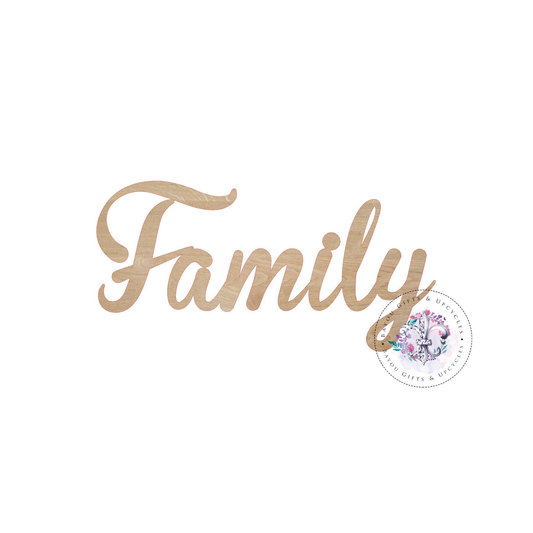 Family Cut Out Wooden Family Sign Family Wall Word Wooden Etsy