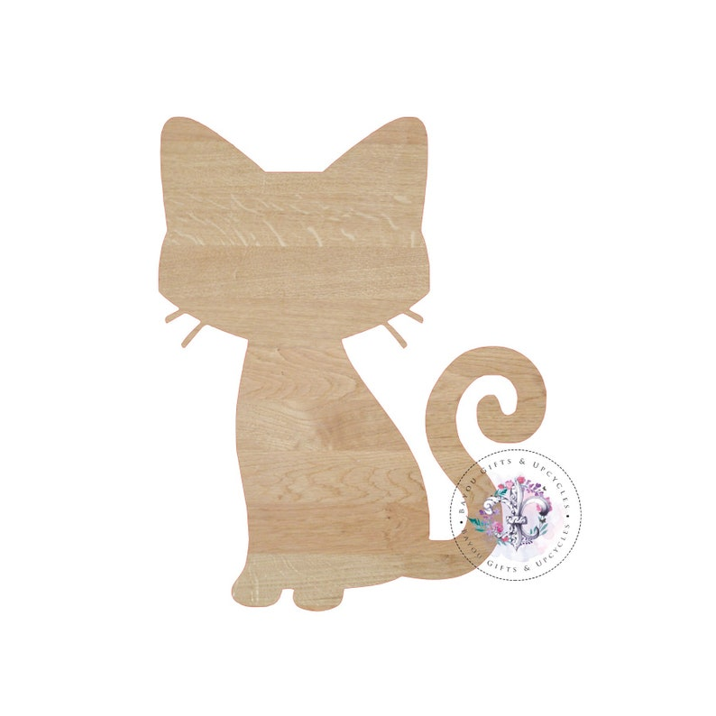 dae54b61c7c1e CAT Wooden Cutout Unfinished Wooden Blanks Wooden Shapes