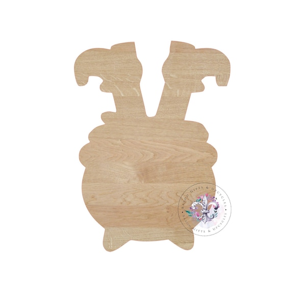 WITCH FEET Wooden Cutout Unfinished Witches Feet Witch