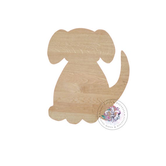 993df4694c9f2 DOG Wooden Cutout Unfinished Wooden Blanks Wooden Shapes