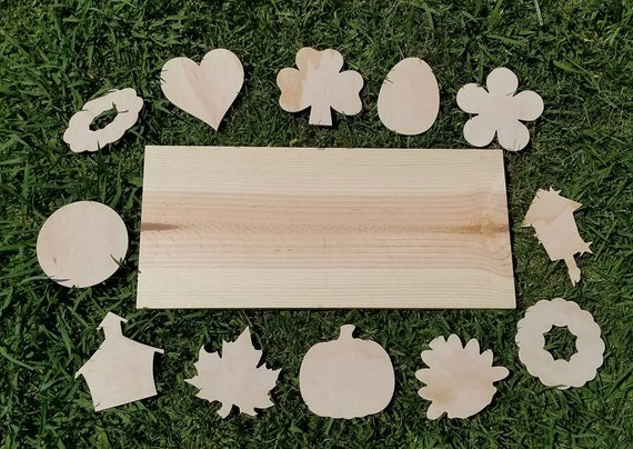 Interchangeable Home Sign Wooden Unfinished Wooden Blanks