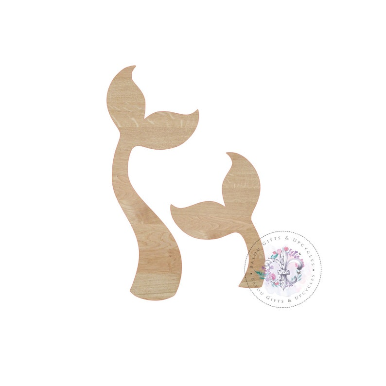 08376e40dc8ca MERMAID TAIL Wooden Cutout Unfinished Wooden Blanks Wooden