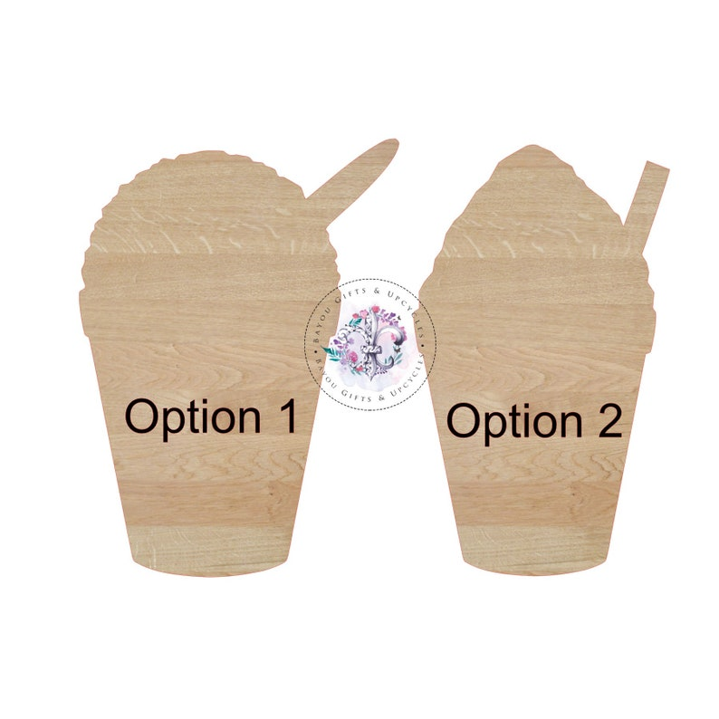 Snowball Snowcone Wooden Cutout Unfinished Wooden Blanks Wooden Shapes Wooden Wreath Shapes Wooden Door Hangers Shape Blanks