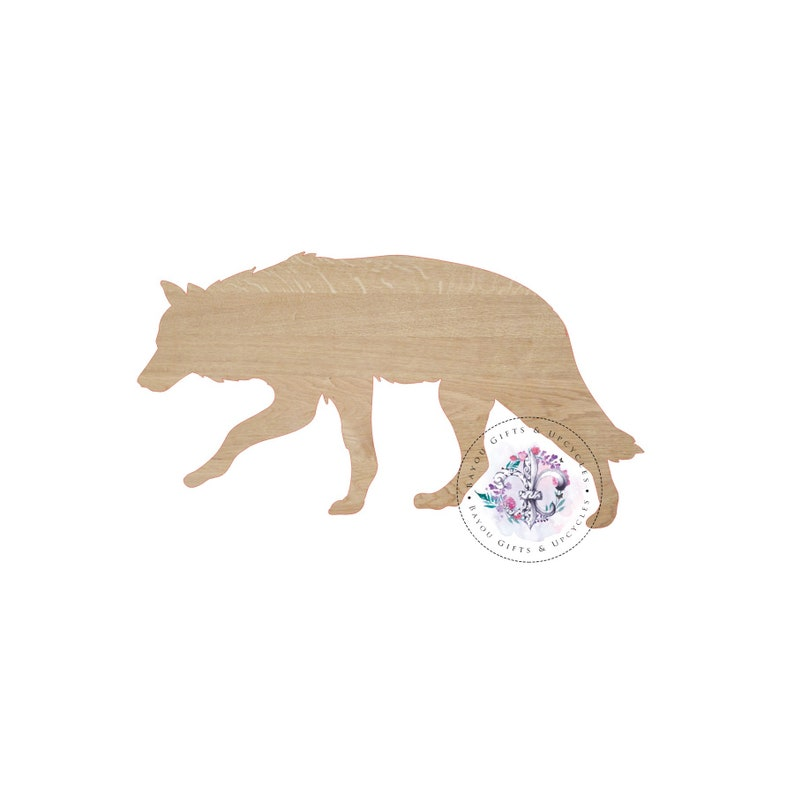 34fe9dcd17090 WOLF Wooden Cutout Unfinished Wooden Blanks Wooden Shapes