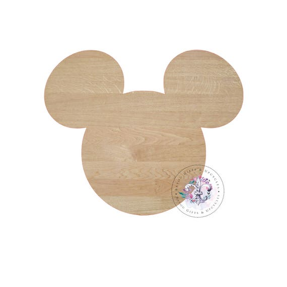 Mickey Mouse Wooden Blank Unfinished, Wooden Blanks, Wooden Shapes, Wooden  Wreath Shapes, Wooden Door Hangers, Shape Blanks, MICKEY Cutout From ...