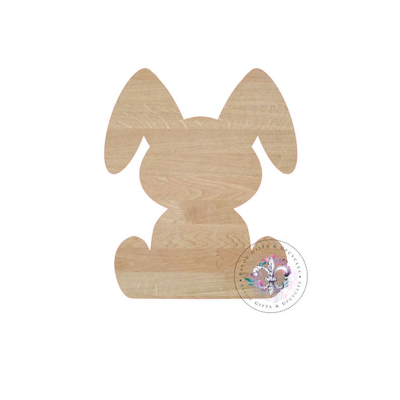 3e49b07bb67e1 EASTER BUNNY 1 Wooden Cutout Unfinished Wooden Blanks