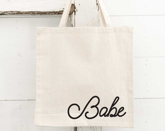 Beach Babe Embroidered Tote Bag